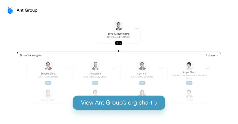 Ant Group org chart