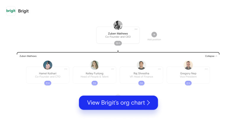 Brigit Org Chart