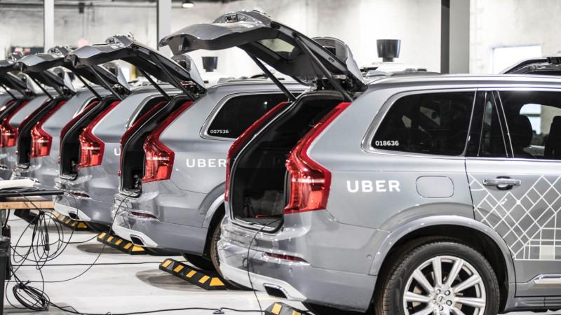 Uber self-driving car's undergoing maintenance