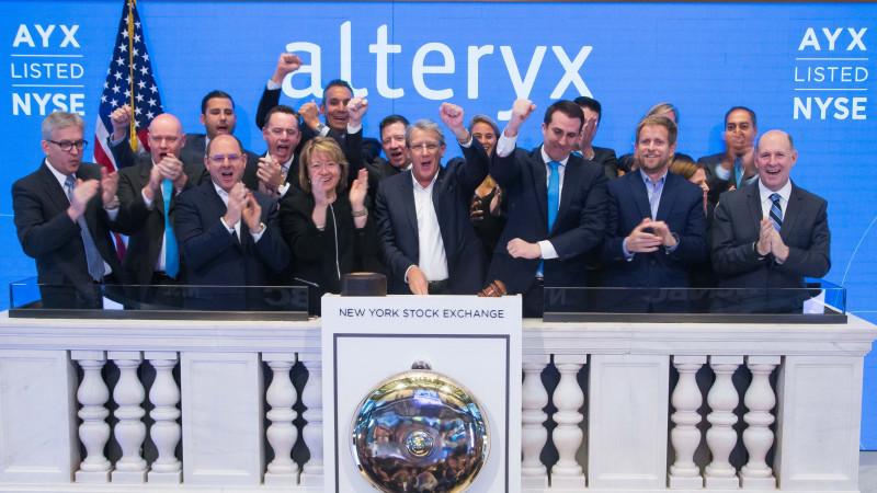 Alteryx team at the New York Stock Exchange