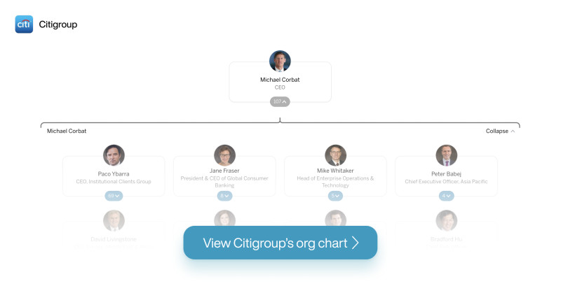 Citigroup's org chart