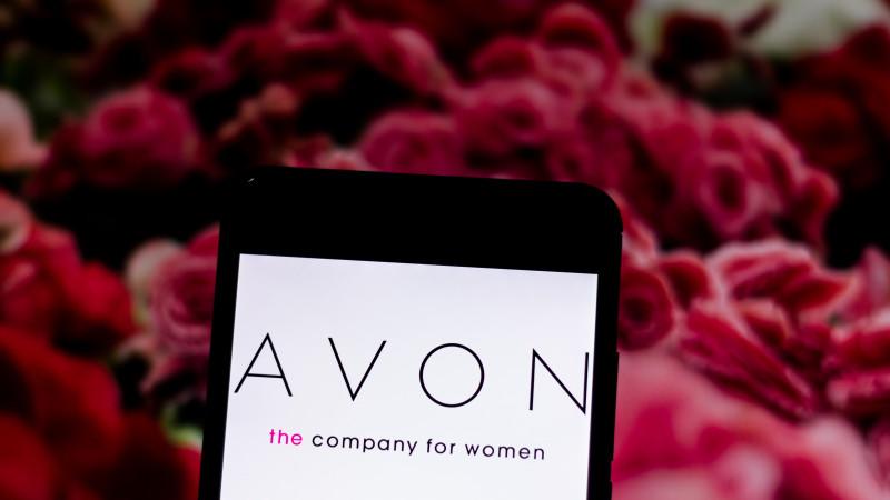 Avon Logo on Mobile Device Screen
