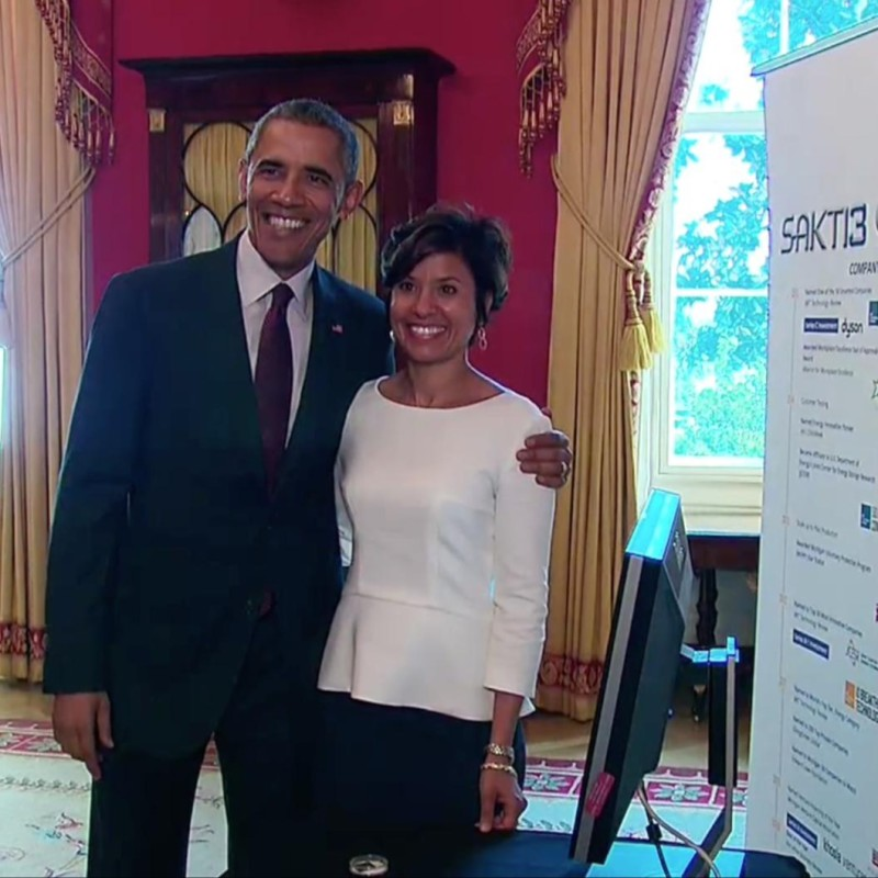 President with Ann Marie Sastry