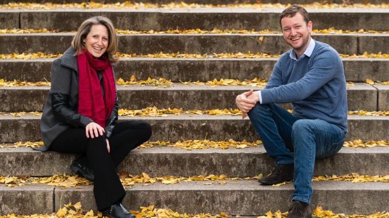 Sarah Kirshbaum Levy and Jon Stein.