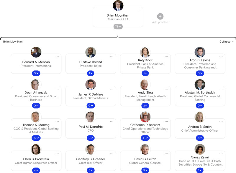 BankOfAmerica Org chart
