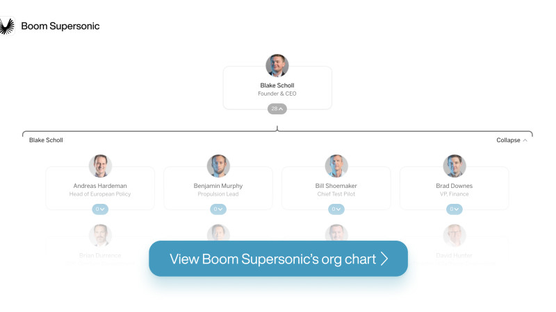 Boom Supersonic's org chart on The Org