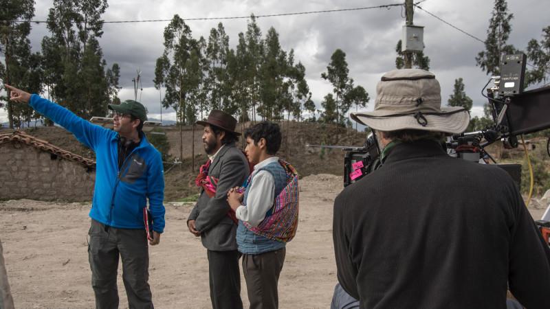Alvaro directing a RETABLOS's scene