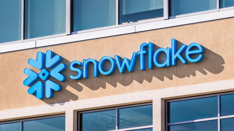 Snowflake logo on the side of a building