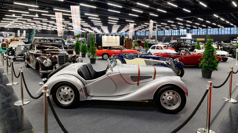 salzburg, austria, 17 oct 2020, classic expo, exhibition for vintage cars, motorbikes and vehicles, bmw 328 roadster