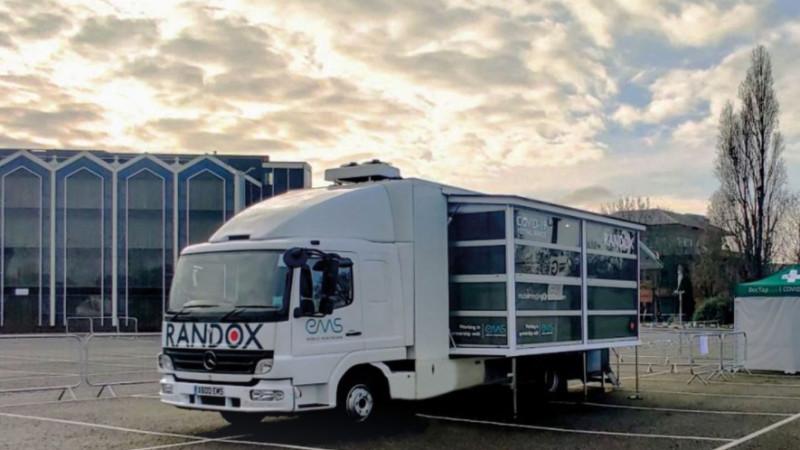 Randox mobile testing site at Heathrow Airport