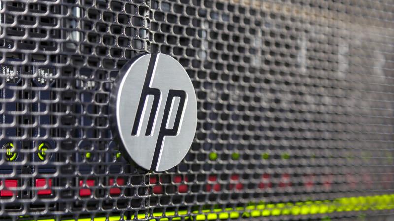 Silver aluminum brand of HP Hewlett Packard
