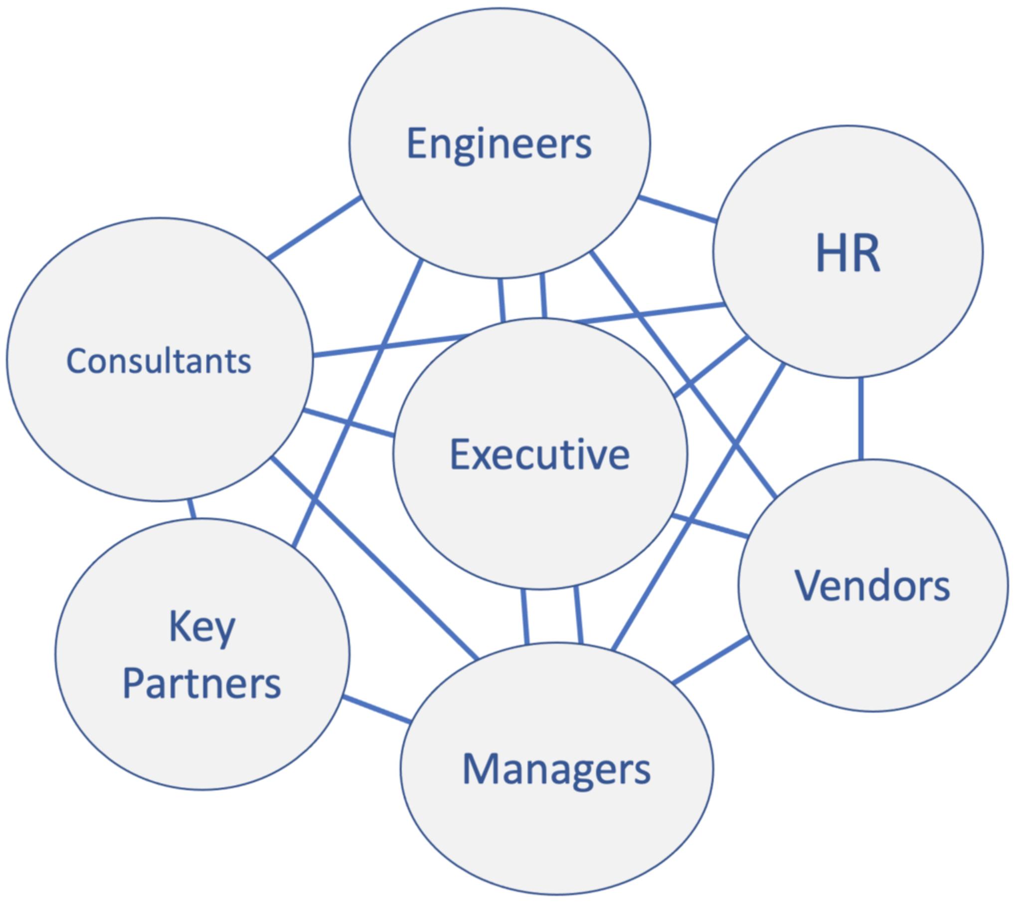 An example of a network organizational chart