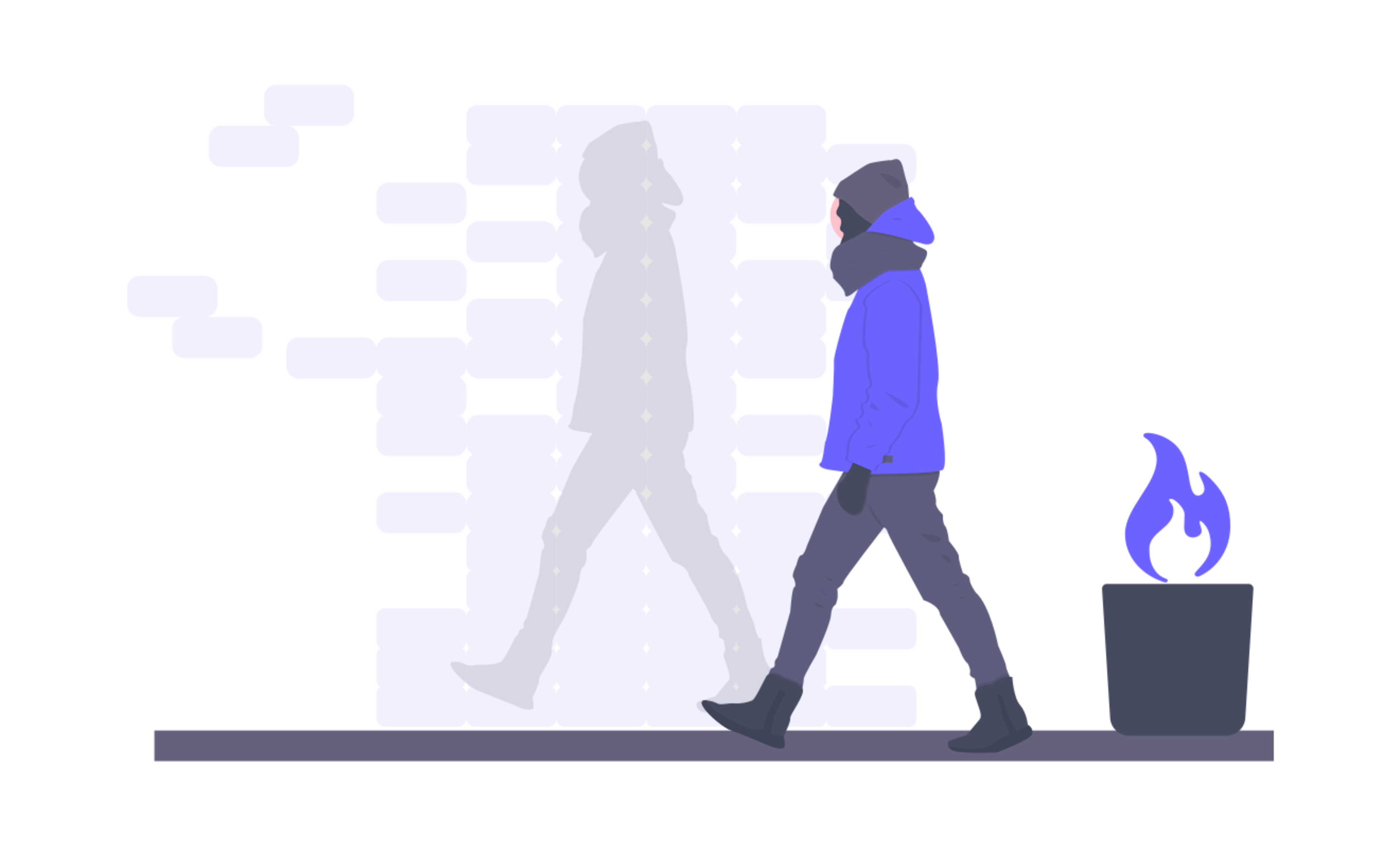 Illustration of a person walking by themselves