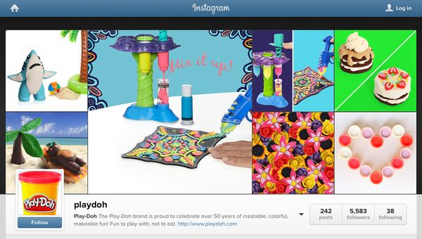 Play-Doh instagram