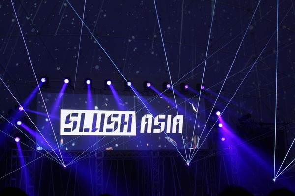 Slush Asia kicking off at the keynote stage.​