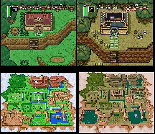 Light and Dark Hyrule in the Legend of Zelda: Link to the Past​