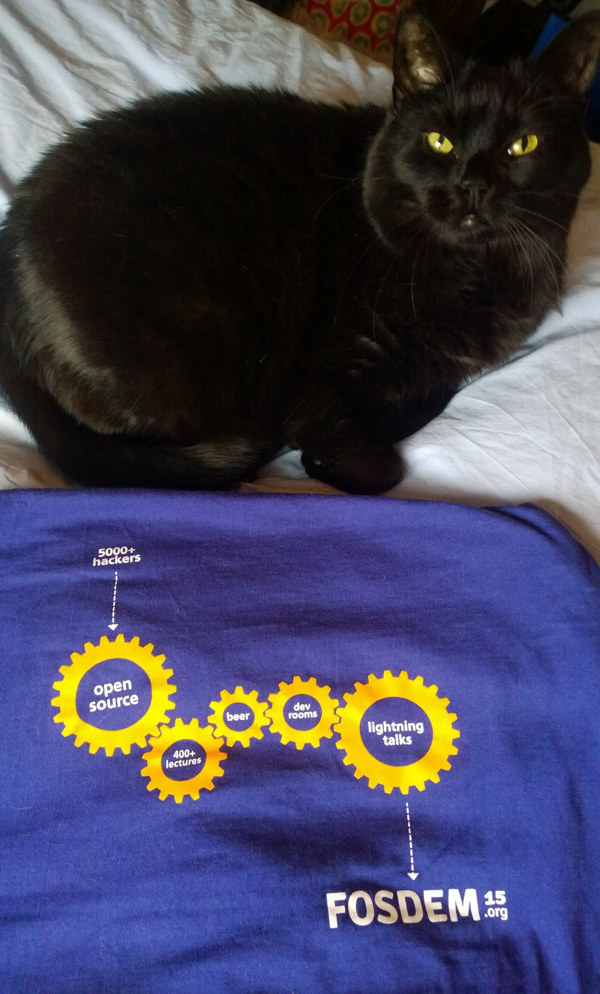 The FOSDEM 15 shirt sums it up well​