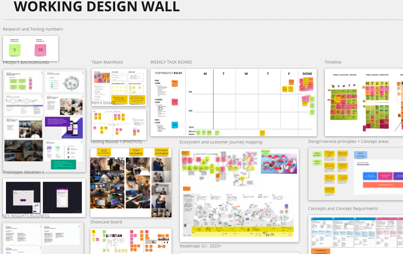 Design wall example