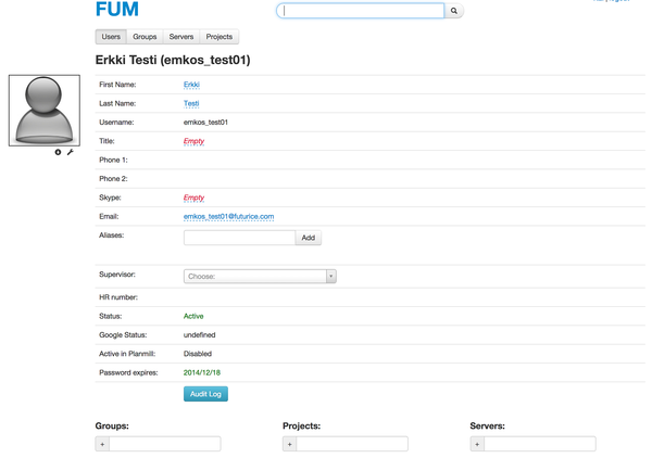 Profile view from FUM.​