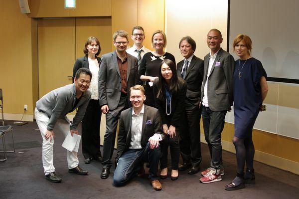The Nordic spearhead of innovation in Tokyo. From left: Takuya Hane (Active Learning), Mirva Heiskanen (Talouselämä), Tuomas Syrjänen (Futurice), Risto Sarvas (Futurice), Aki Saarinen (Reaktor), Mari Piirainen (Futurice), Tokuno Eriko (Active Learning), Yoshimitsu Kaji (Accenture), Inoue Jun (Reaktor and Ocean Observations), and Sofia Svanteson (Ocean Observations).
