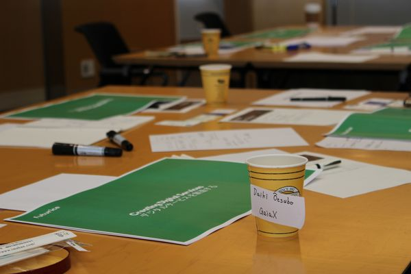 Pens, papers, and hot drinks are served in our innovation workshop.​