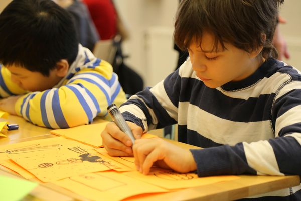 Young children have no barriers to their creativity