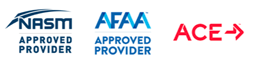 NASM Approved Provider. AFAA Approved Provider. ACE.