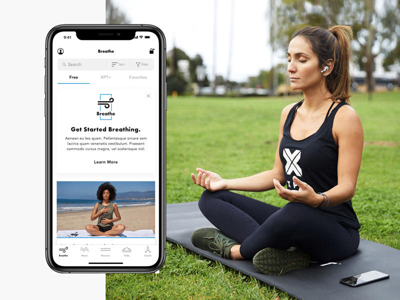 XPT app get started breathing