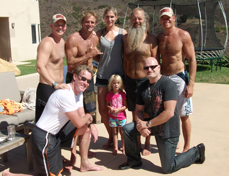 Actor John McGinley with Laird Hamilton and XPT students