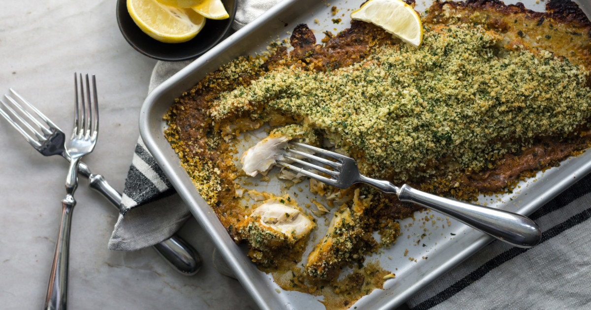 Baked Fish with Herbed Breadcrumbs