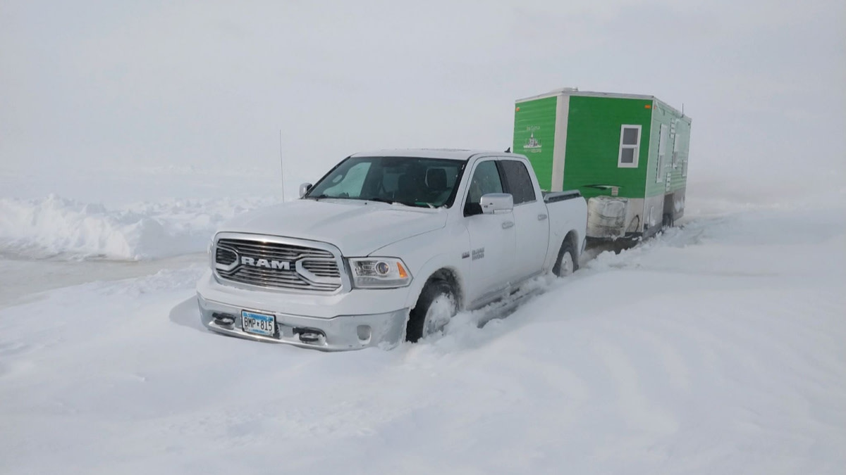 Hundreds of Ice Fishermen Stranded in Blizzard: 'It Looks Like Antarctica'