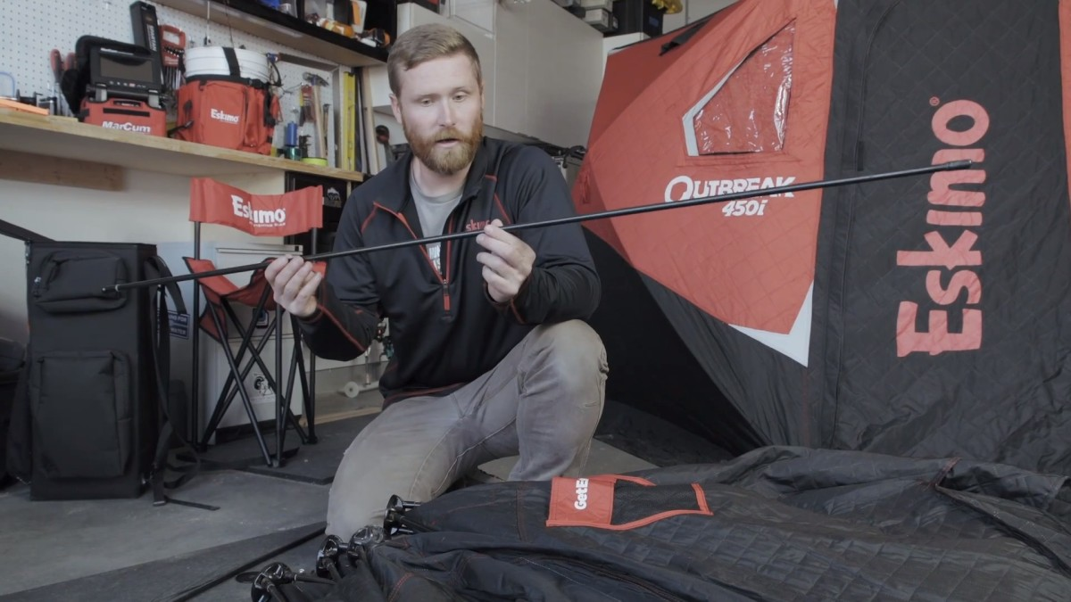 Video: How to Repair a Broken Ice Fishing Shelter Pole