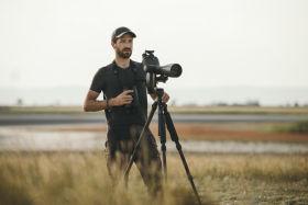 Birder Leander Khil using the BTX spotting scope.