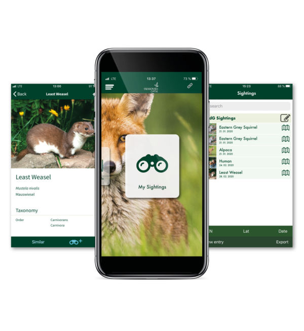 dG Mammals App with phone