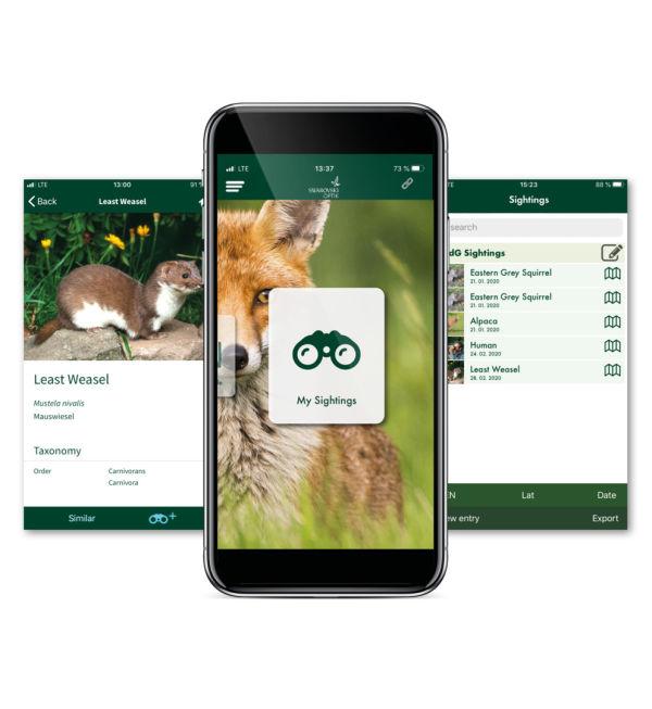 dG Mammals App with phone