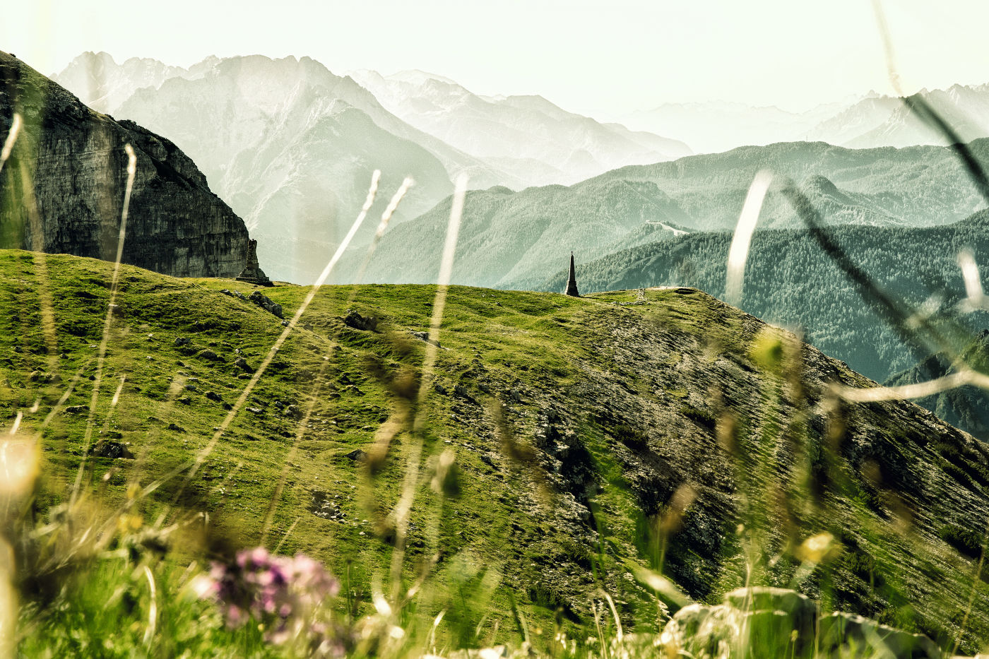 Swarovski Optik APPRECIATING THE GIFTS OF NATURE mountain landscape in the green Alps