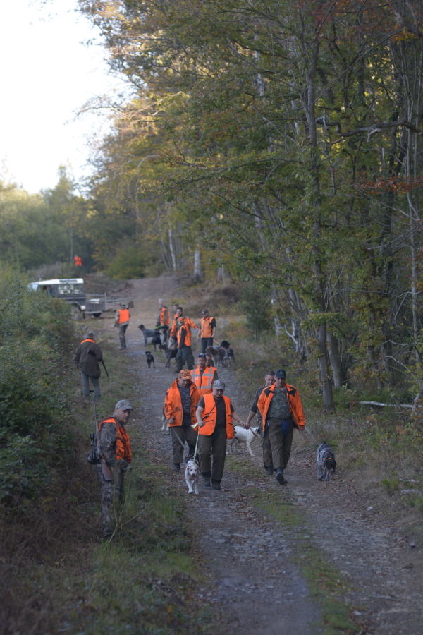 social method of hunting, hunters from different hunting grounds come together to assist their neighbors
