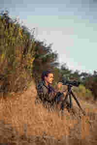 Huntress, using the STR 80 spotting scope.