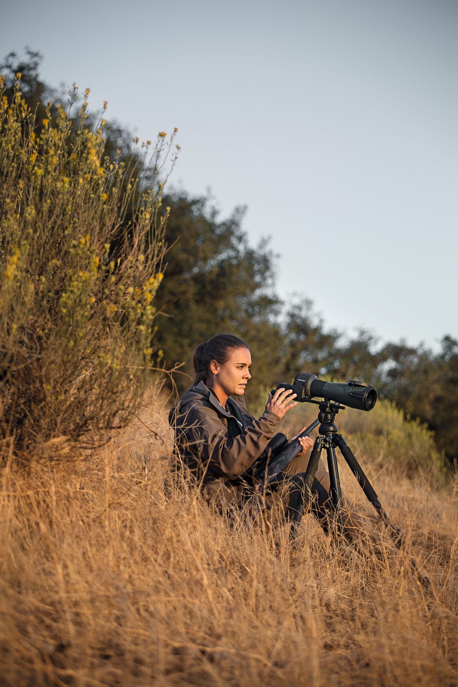 Huntress, using the STR 80 spotting scope.