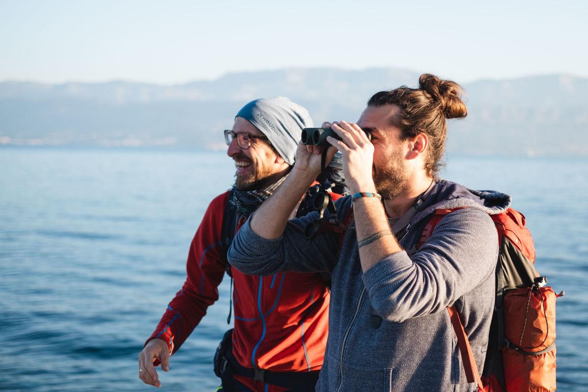 !!! The island of Brač, Croatia, binoculars