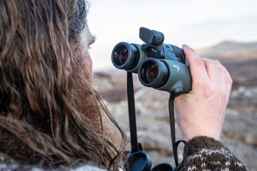 One with nature: the Iceland Hunters stalking with the NL Pure Gunnar from hunting_iceland holds the SWAROVSKI OPTIK NL Pure with FRP forehead rest