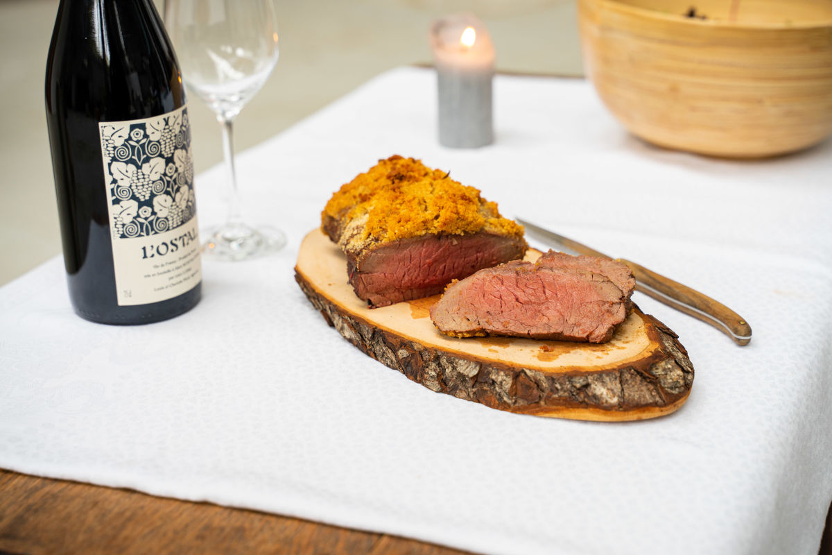 !!! Rezept: #wild2table - Deer roast with crumble crust H/ - image rights by Yannis Labdaoui