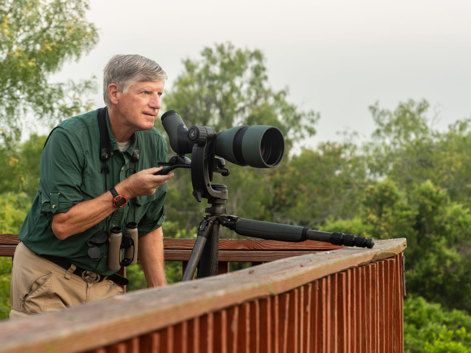 The 115-mm objective module in Texas 1/3 – birding at Hazel Bazemore Park - Capturing the first rays of light – the 115-mm objective module Clay Taylor