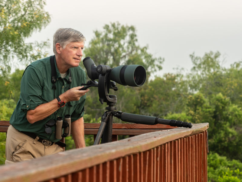 The 115-mm objective module in Texas 1/3 – birding at Hazel Bazemore Park B/ - Clay Taylor ATX 115-mm