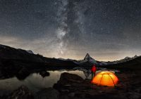 A tent under the stars Outdoor history GettyImages-576583816
