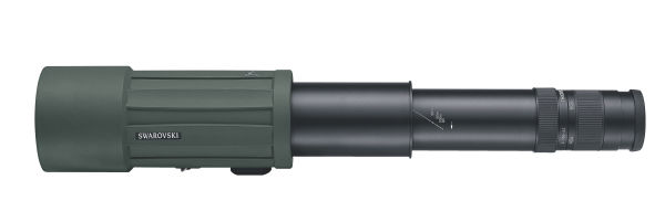 CTS extendable spotting scope on white background.