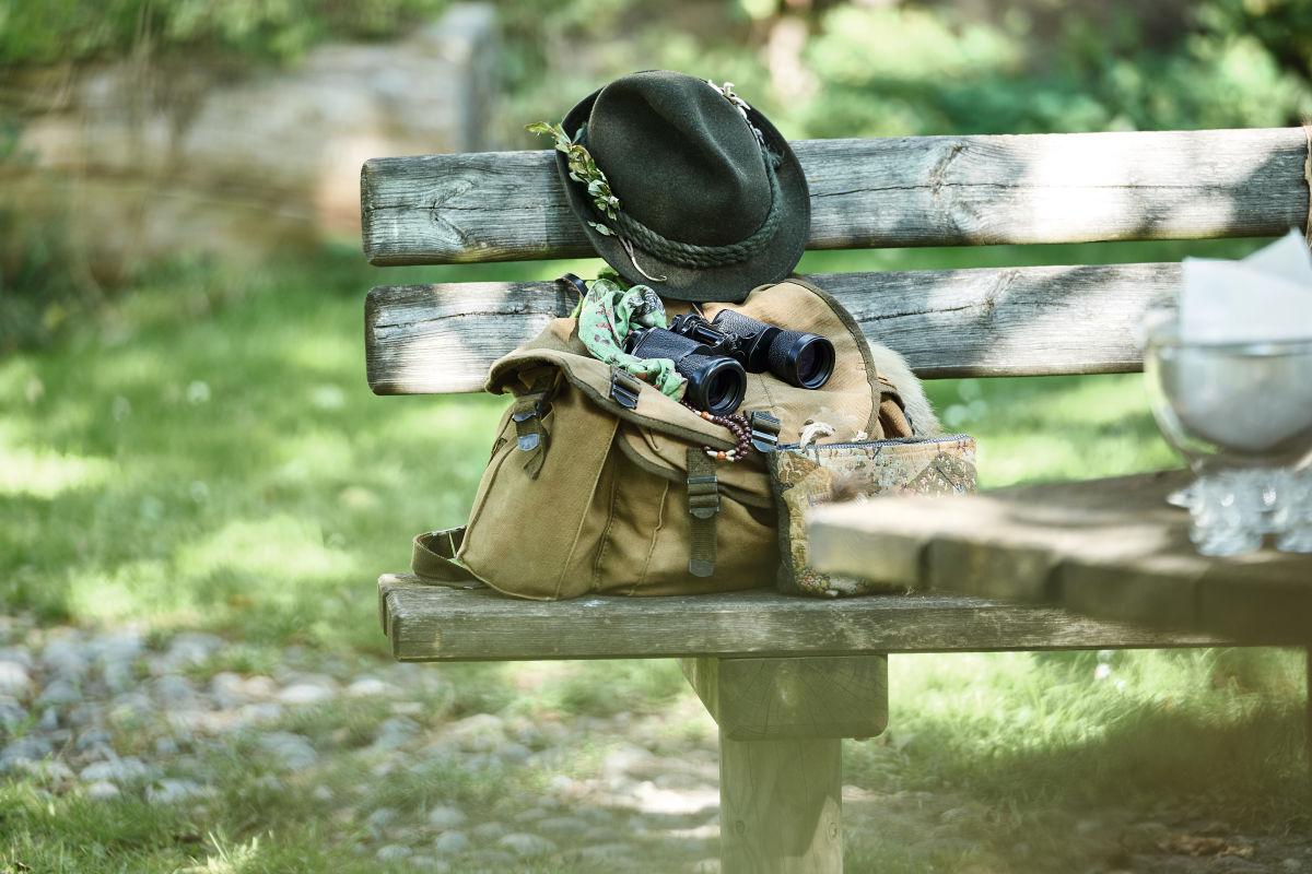 Hunting can heal binoculars, hat, backpack ID: 1117092