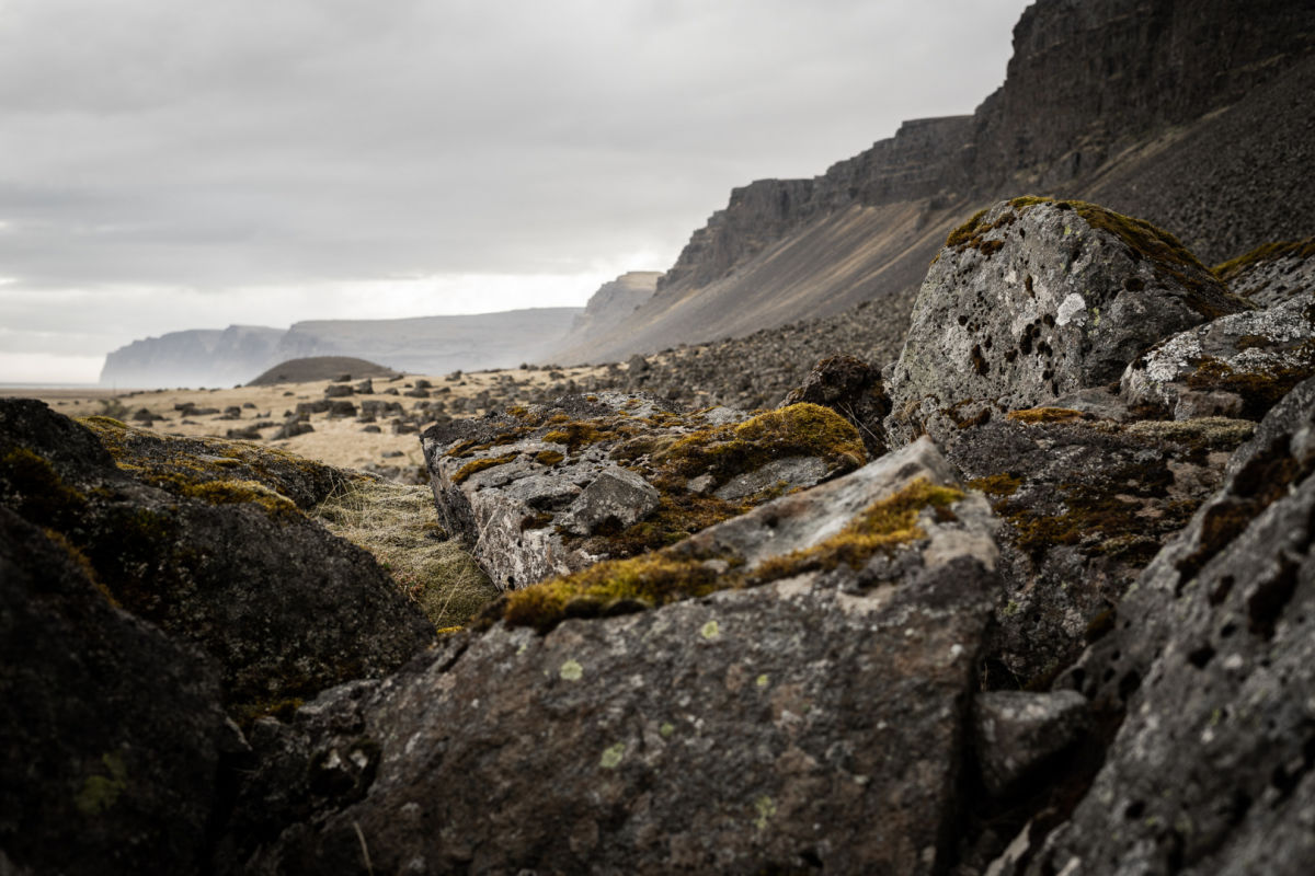 One with nature: the Iceland Hunters stalking with the NL Pure - iceland rocky landscape