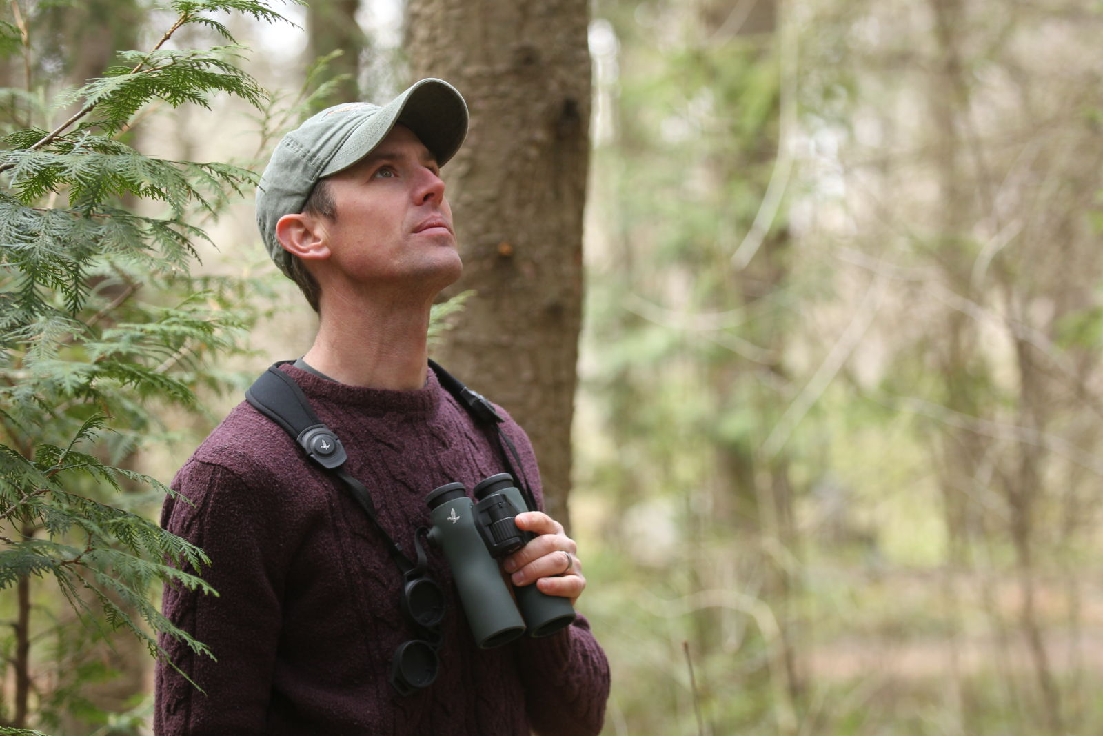Nature guide and conservation ranger James Lees with the NL Pure 8x42 binoculars.