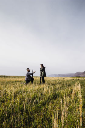 Iceland Hunters Gunnar proposes to Alma